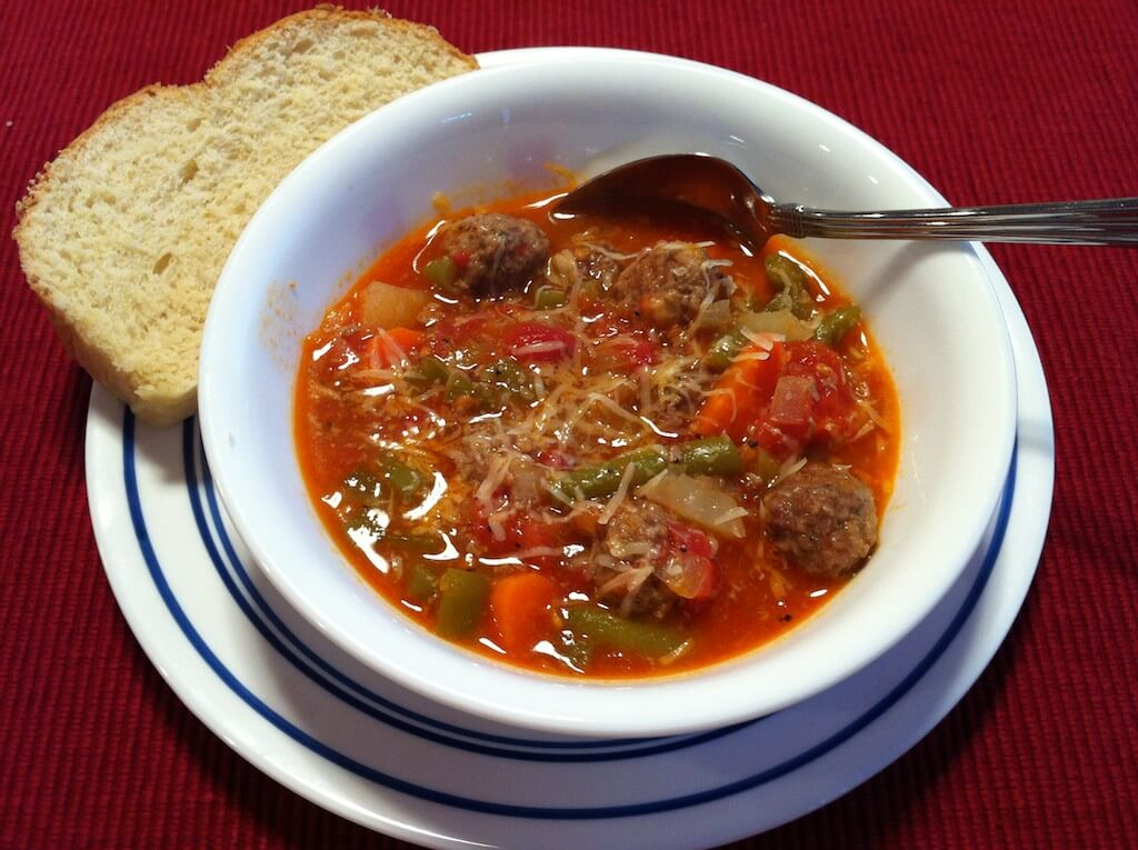 Mini Meatballs, meatballs, stew, soup, tomato, vegetable