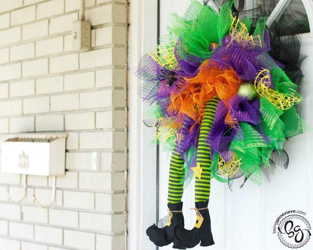 Halloween Witch Wreath