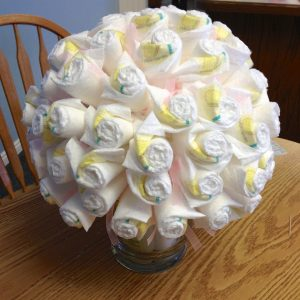 Lift up the foam ball carefully and place in the vase stuffers. Place foam ball back on the vase.