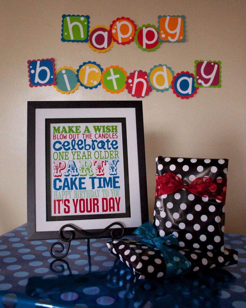 Birthday Subway Art