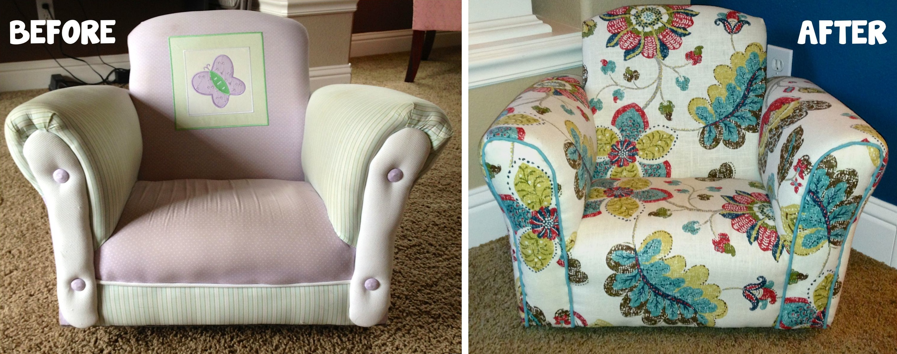 Reupholstering Toddler Chair
