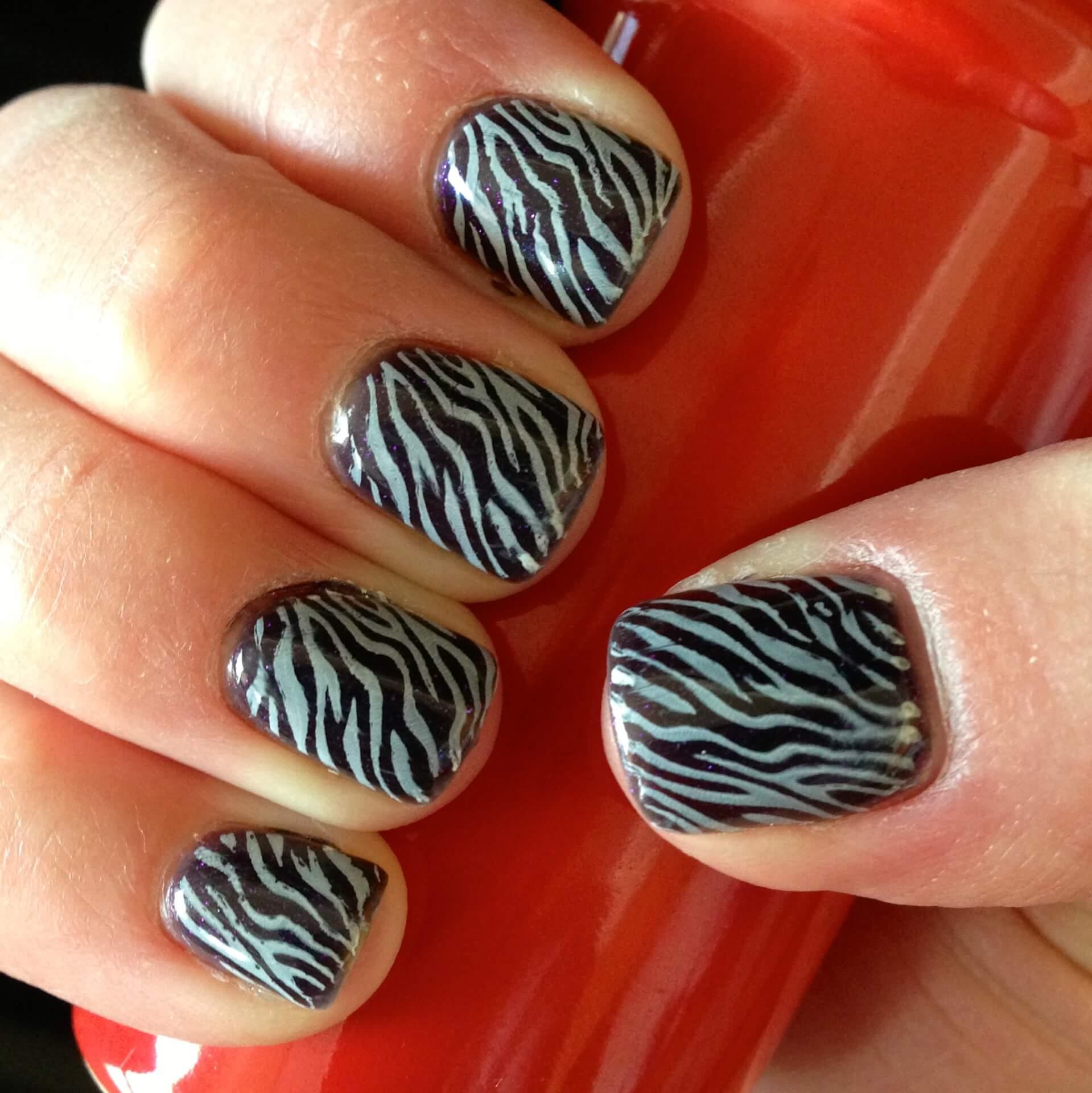 Nail Stamping Zebra Stripe