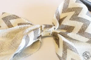 Chevron Burlap Wreath