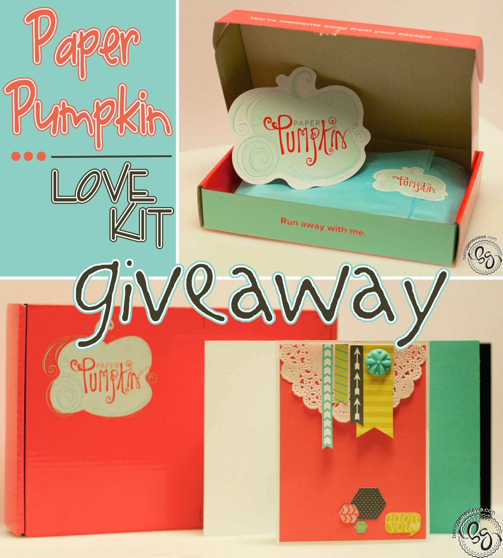 Paper Pumpkin Giveaway