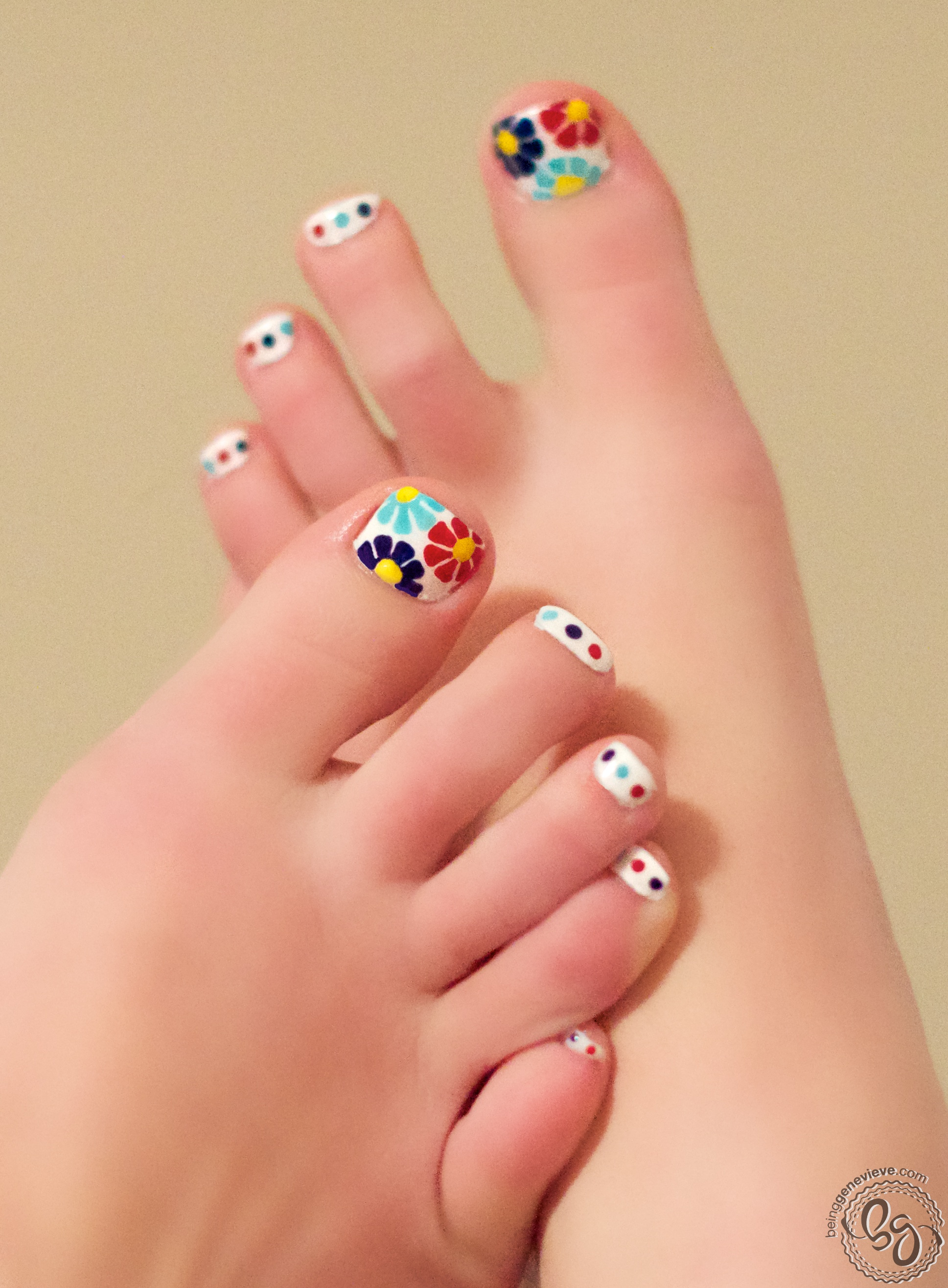 Painting the Perfect Pedicure | Being Genevieve