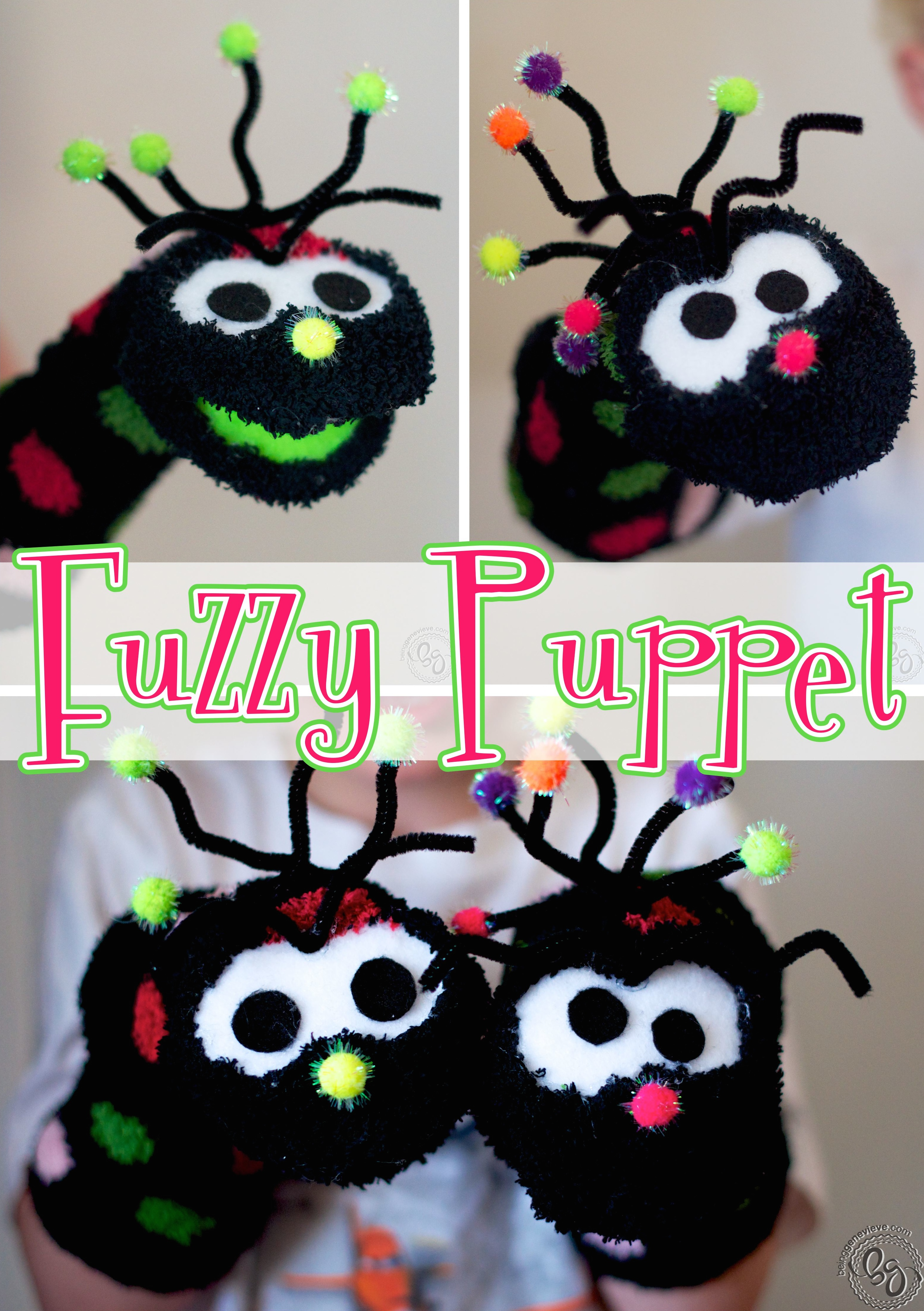 the fuzzy puppet being genevieve