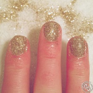 Chevron Gold Glitter