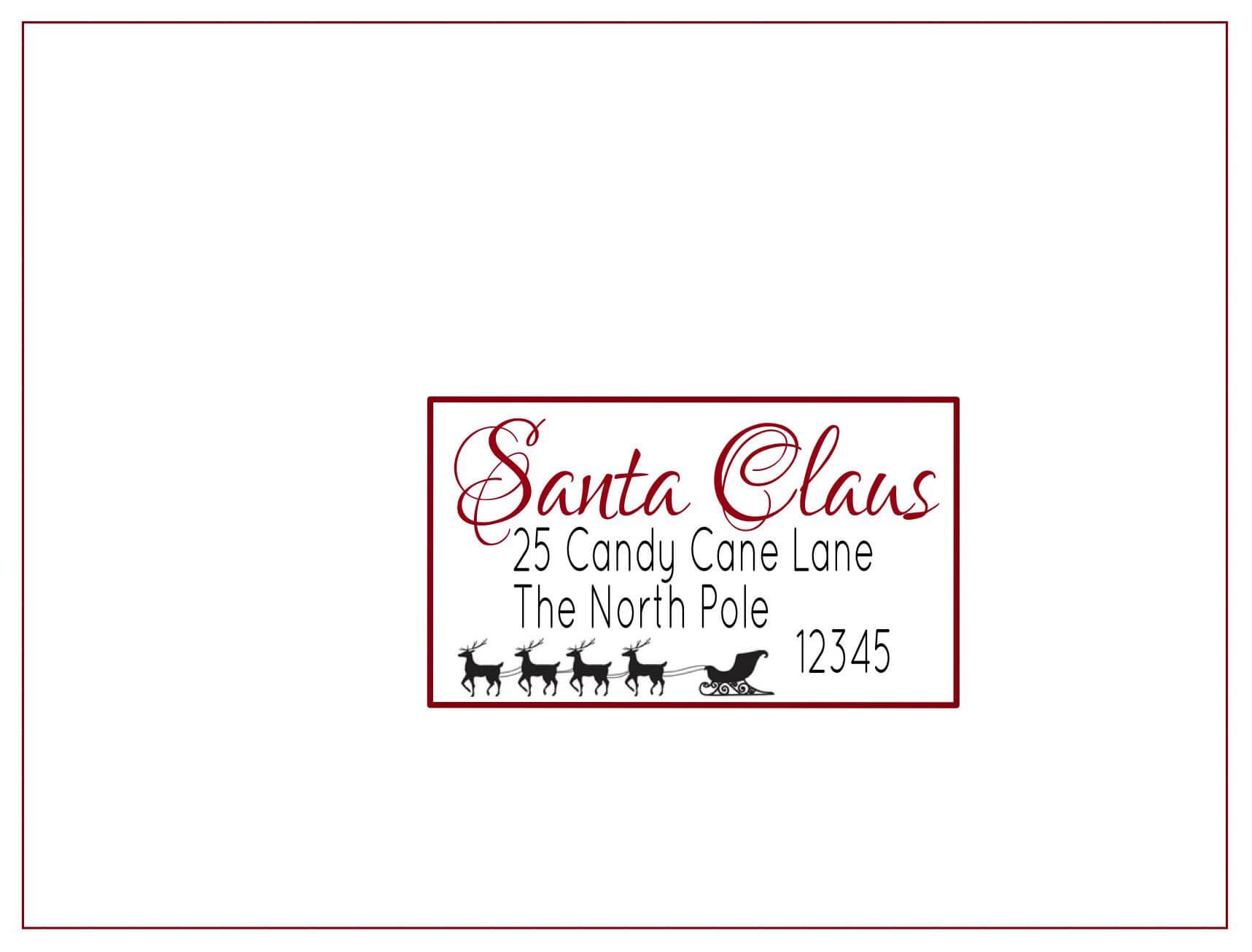 Christmas Return Address Labels Free Shipping