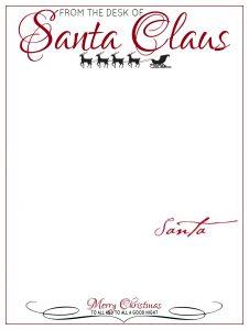 Santa Letterhead