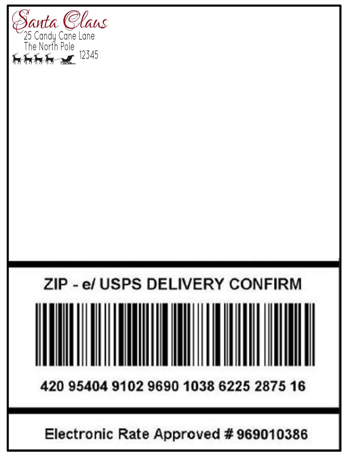 Santas Special Delivery – Packing Label Template