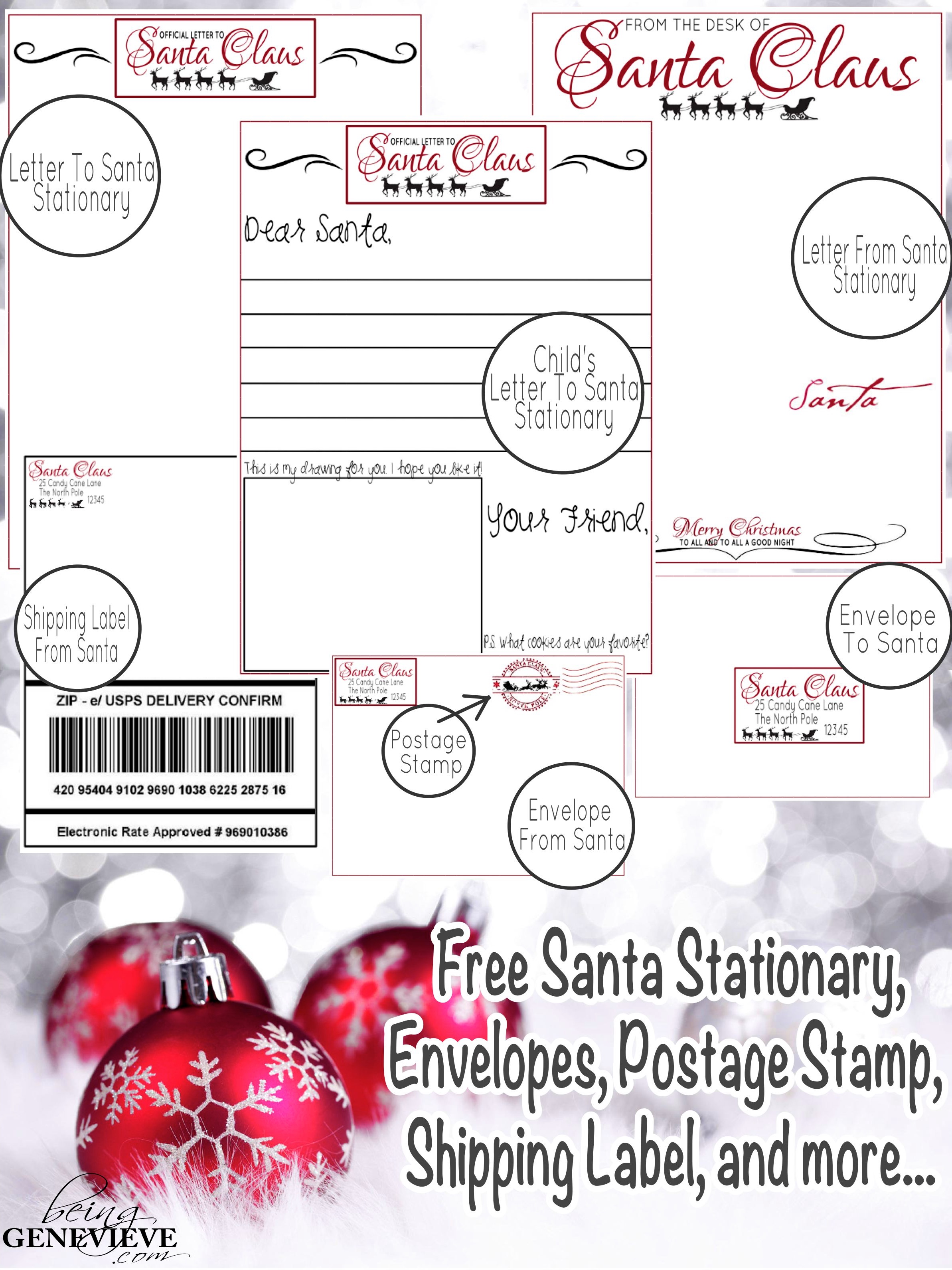 picture regarding Free Printable North Pole Special Delivery Printable referred to as Santas One of a kind Shipping Staying Genevieve