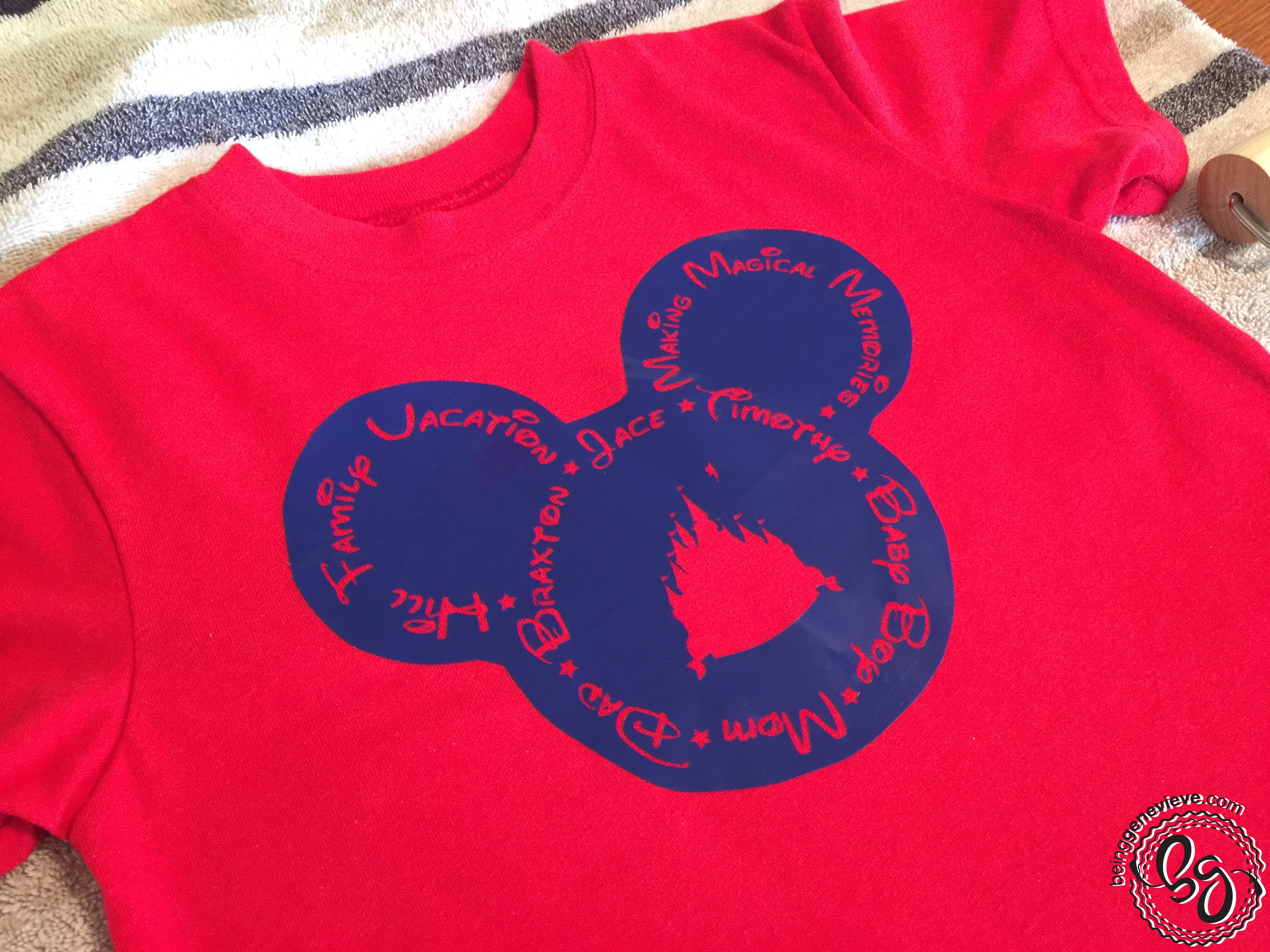 Disney Family Vacation Shirt Being Genevieve
