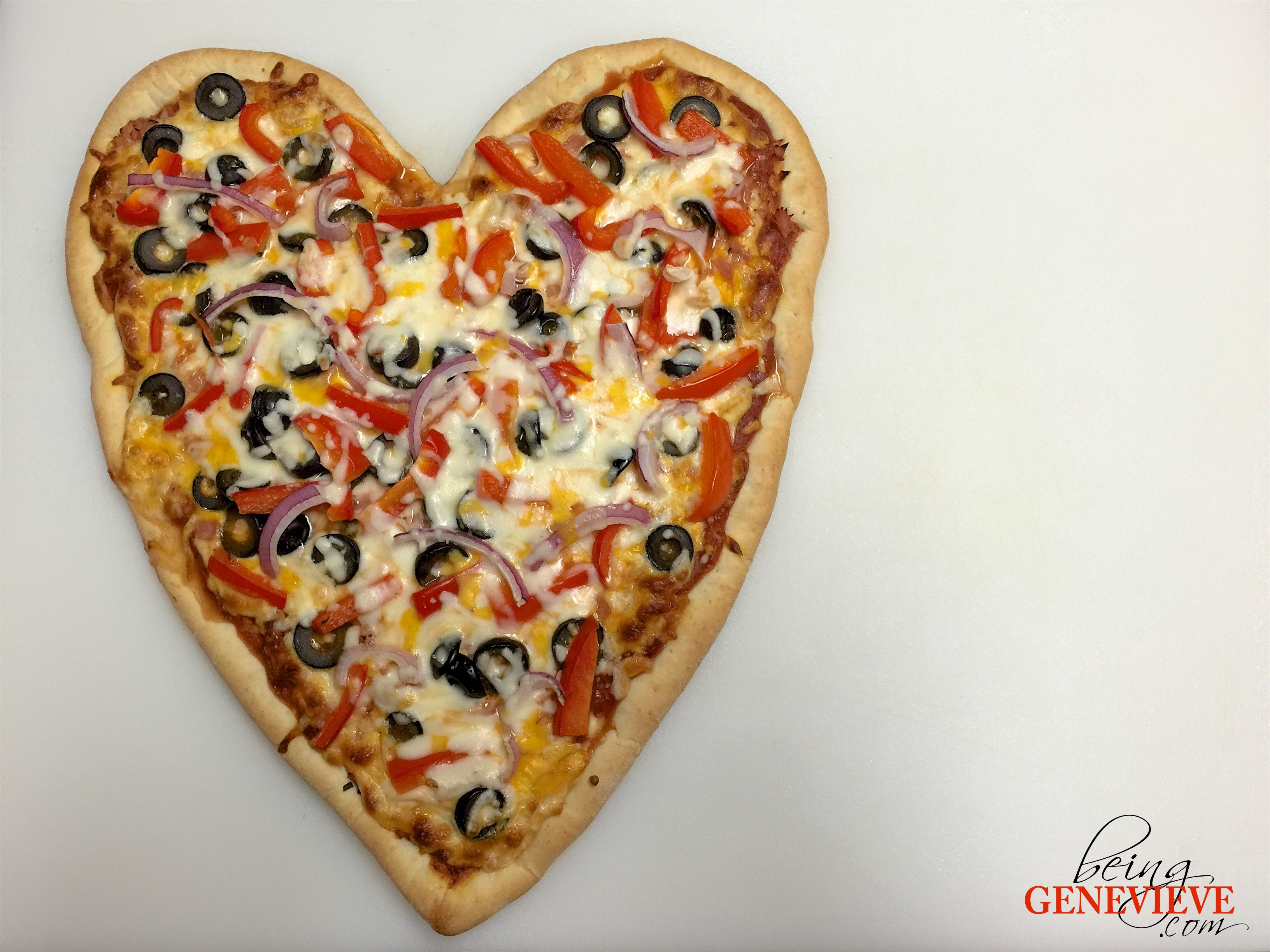 Heart Pizza Being Genevieve