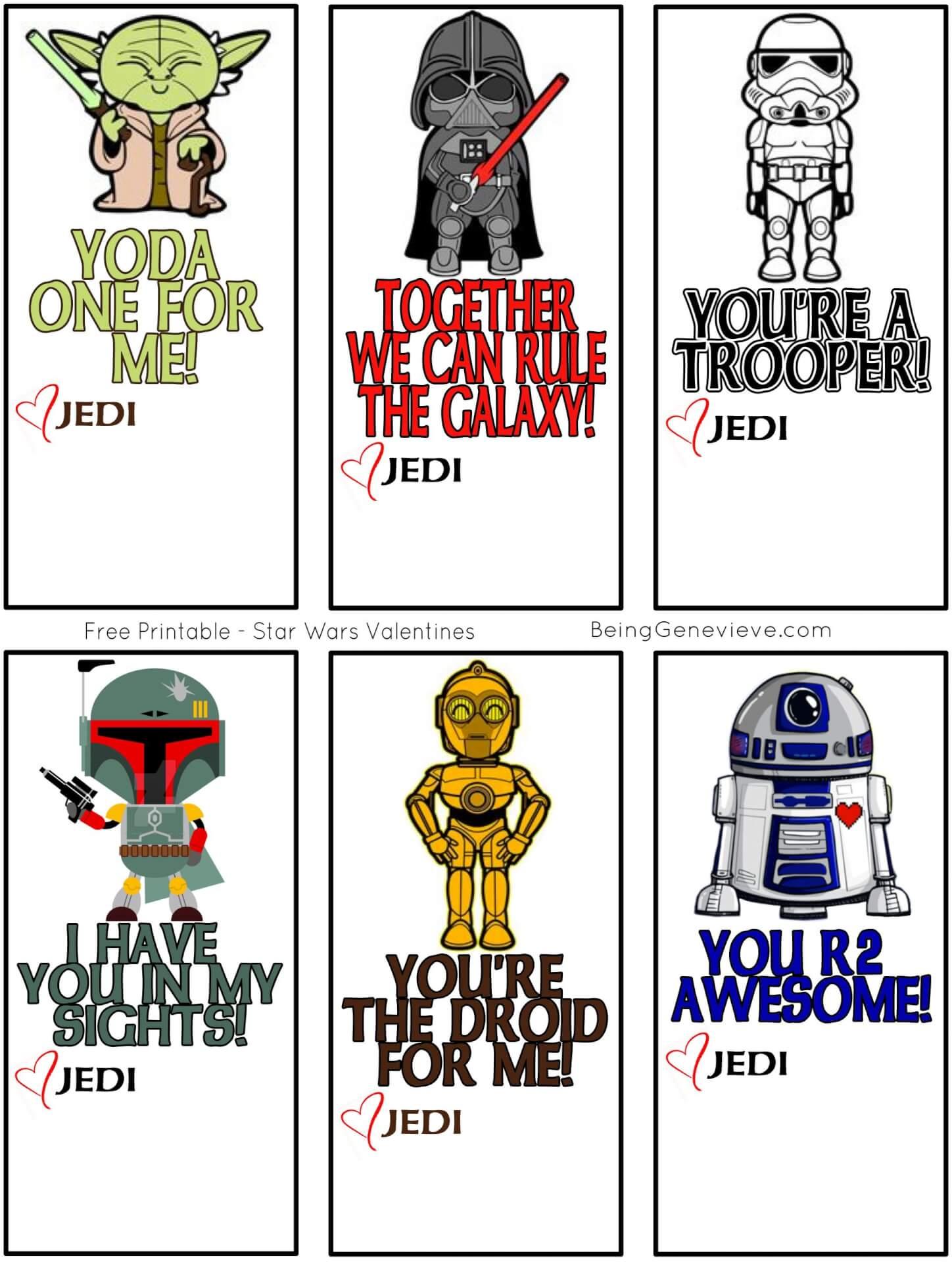 Free Printable Star Wars Valentines