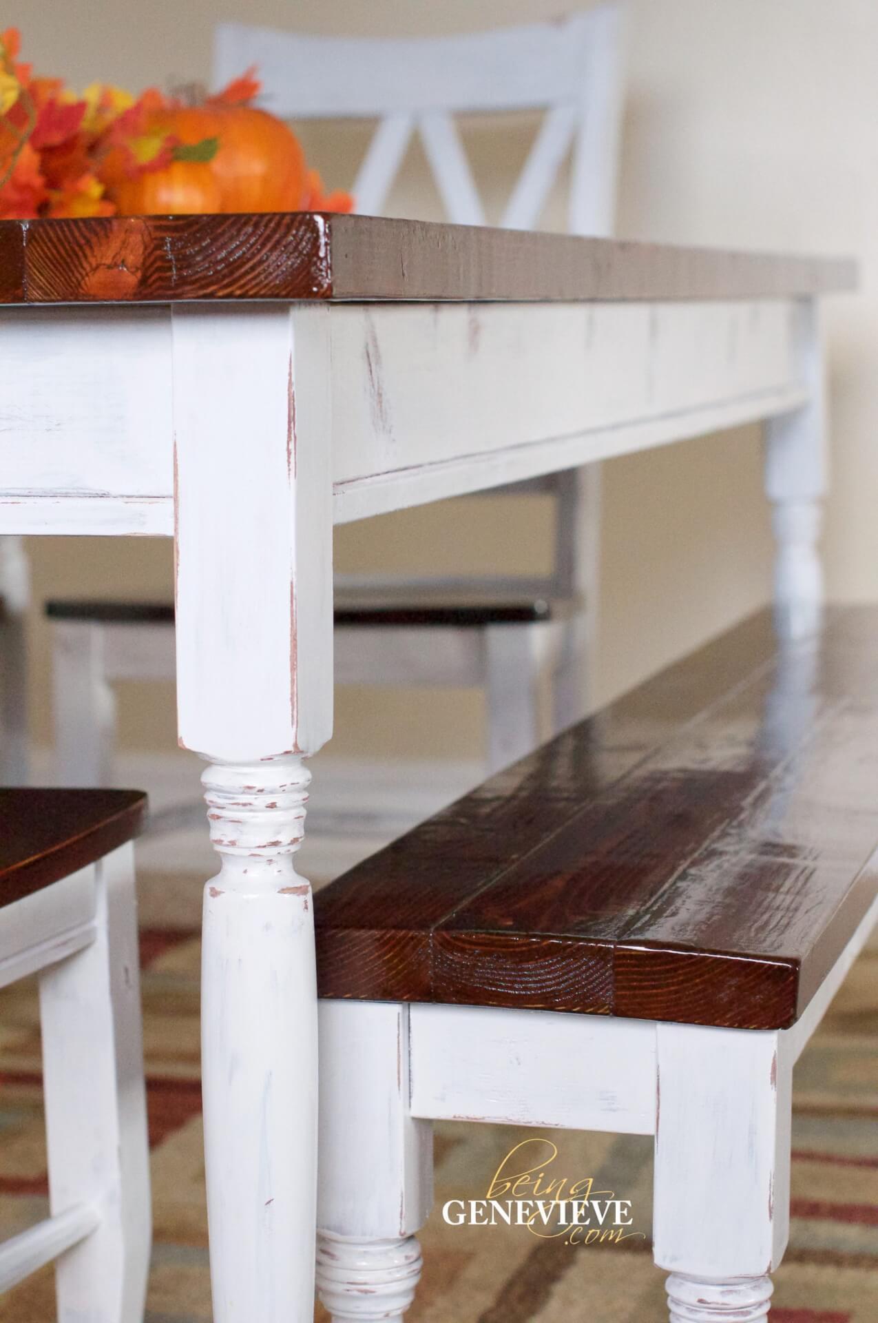 Antique Paint & Stain Technique – Farmhouse Table