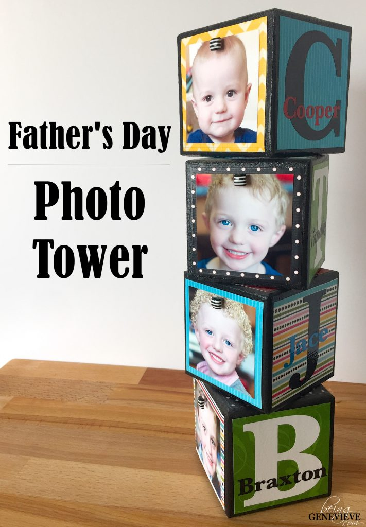 Father's Day Photo Tower