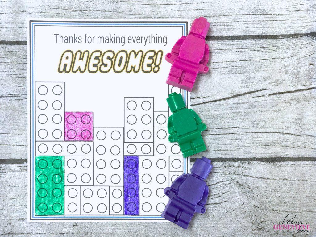 Lego Crayon Tags