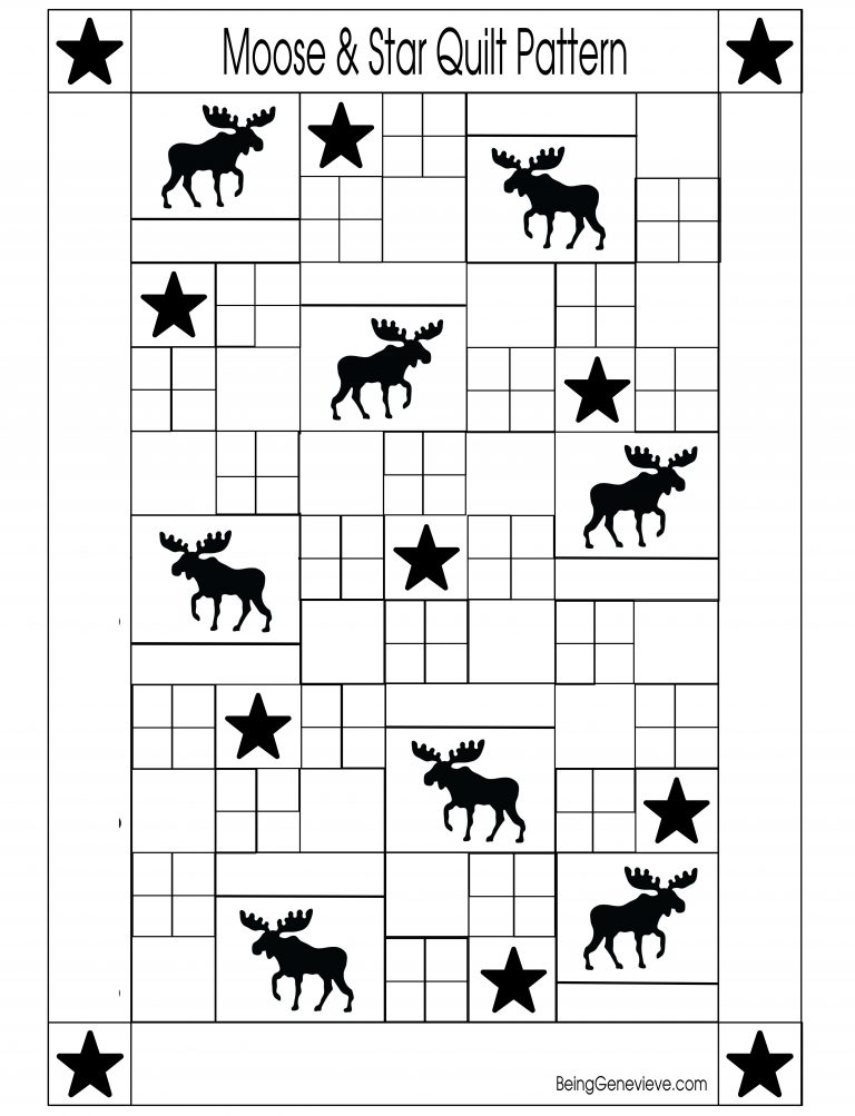 Moose & Star Quilt Pattern