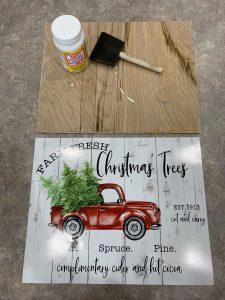 Farm Fresh Christmas Trees Sign