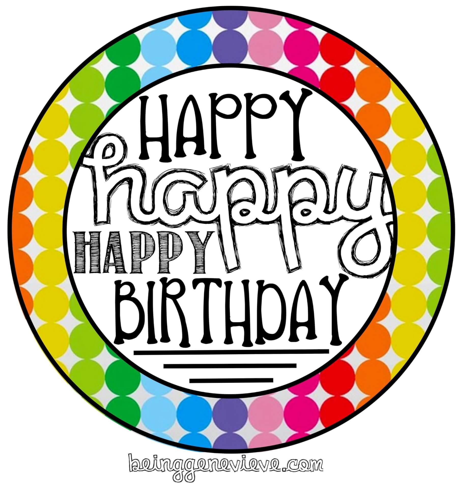 Free Birthday Tag Printable