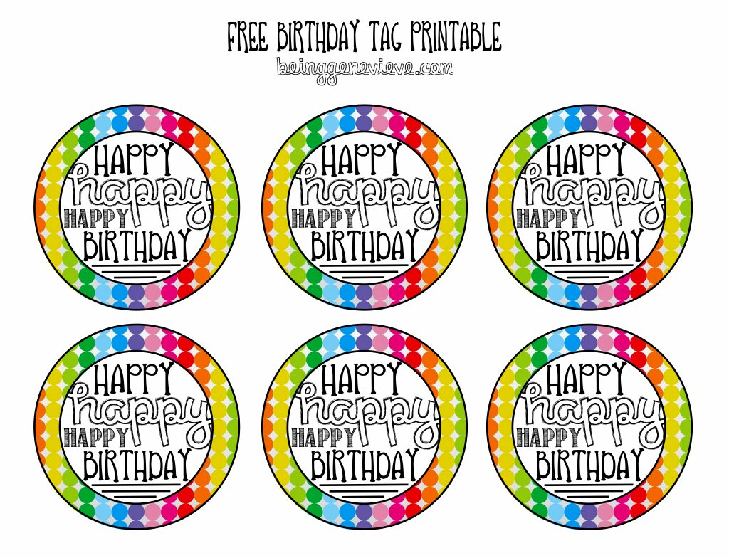 image regarding Birthday Tag Printable identify Cost-free Birthday Tag Printable Becoming Genevieve