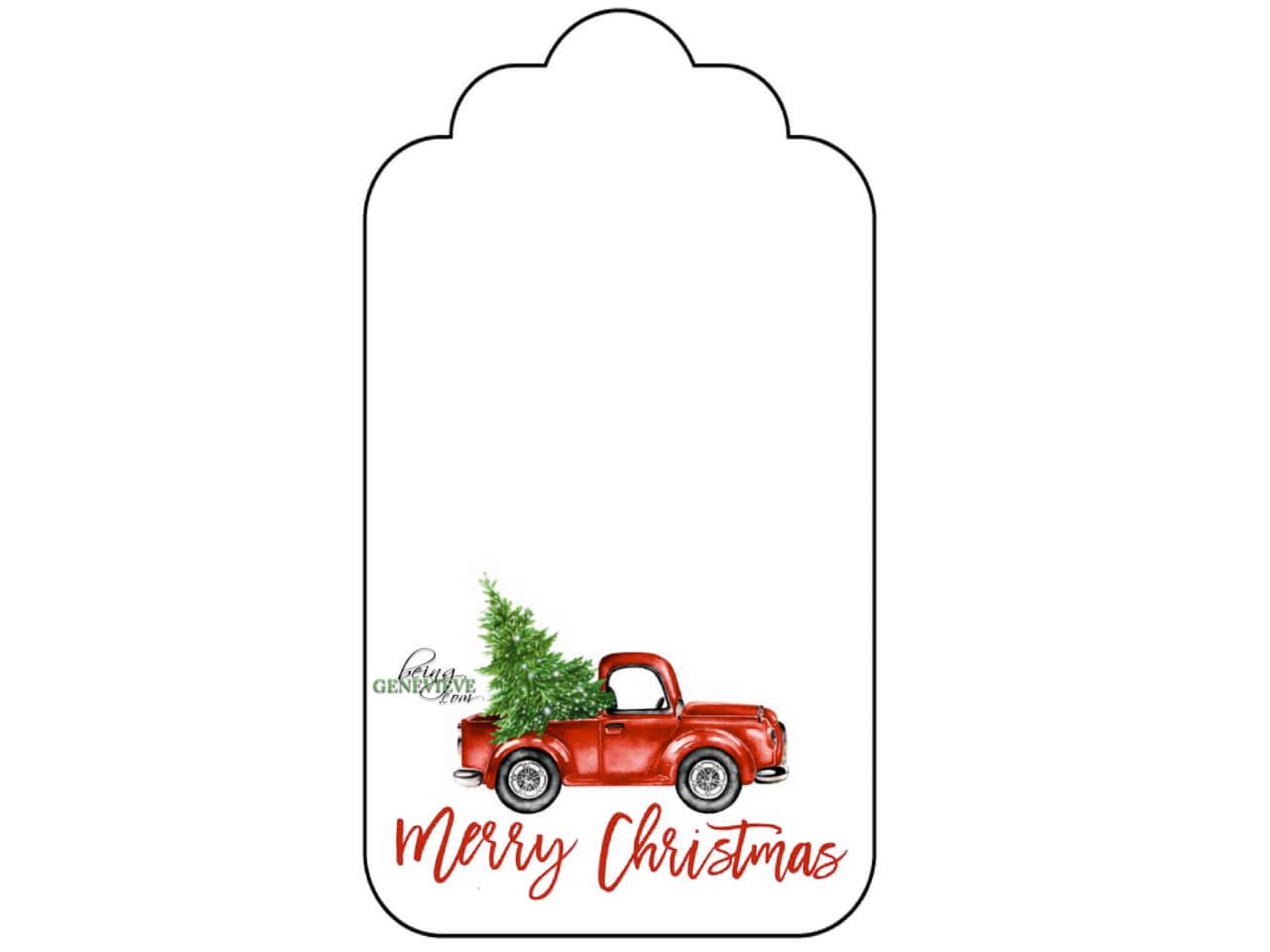 Christmas Truck Tags
