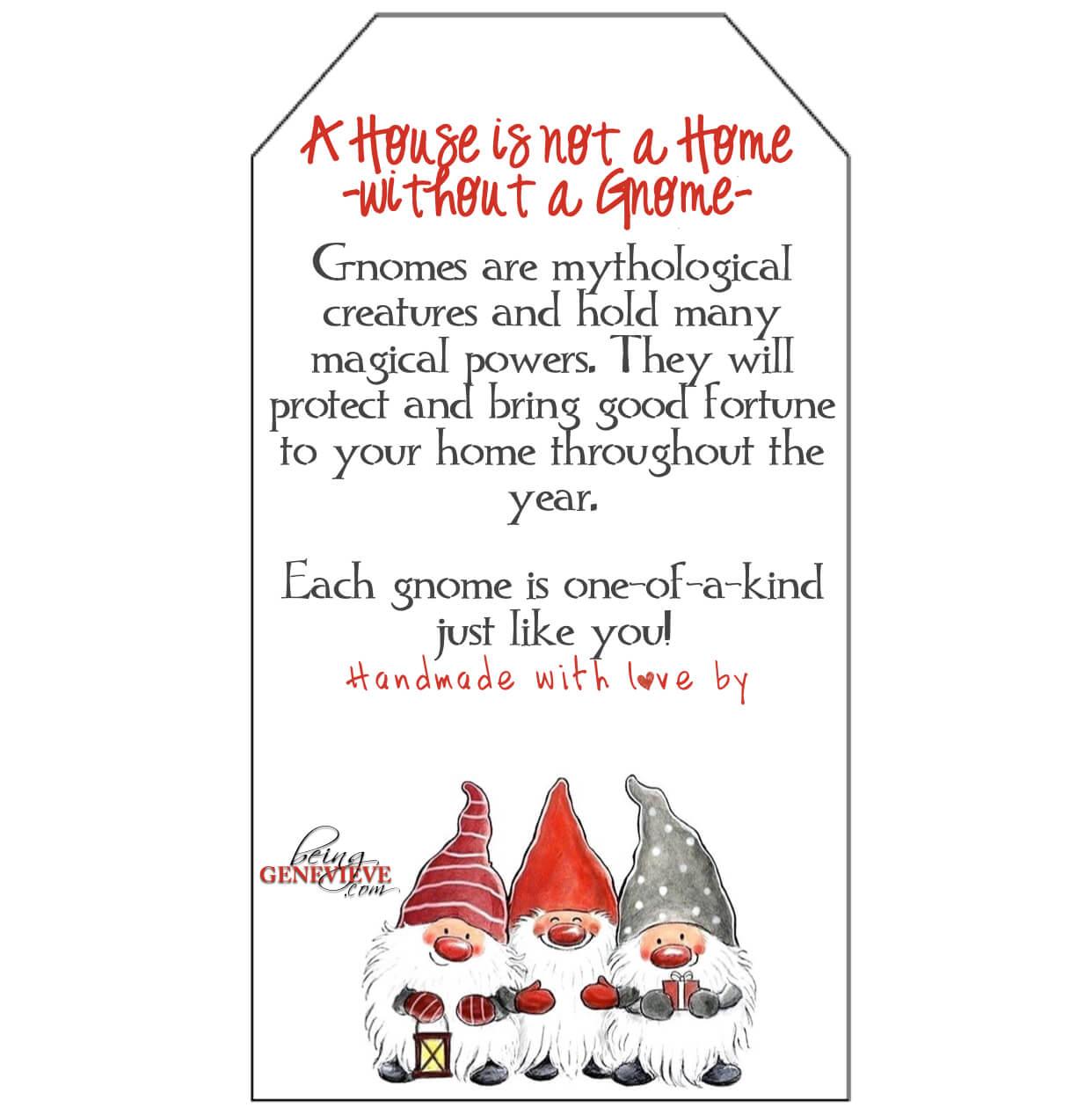 Free Printable Gnome Tags